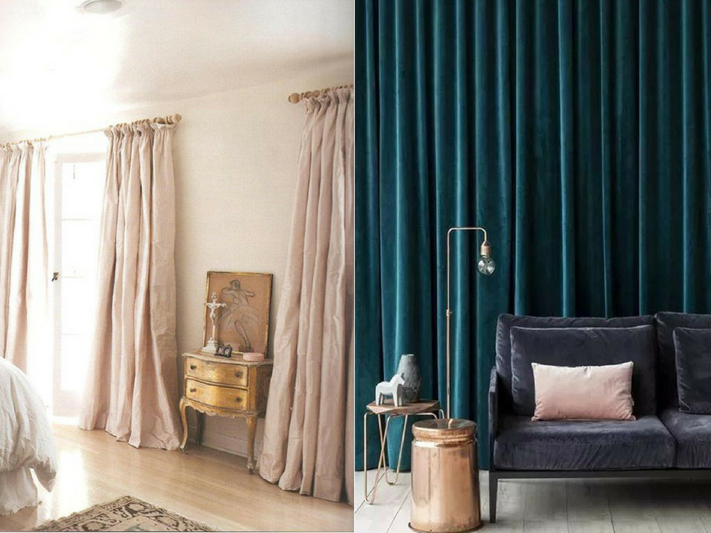 Luxurious Silk & Velvet Curtain